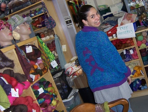 Pamela's Linen Jacket - Modeled by Alina